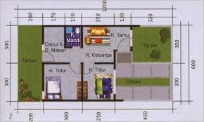 Gambar Denah Rumah Type 36