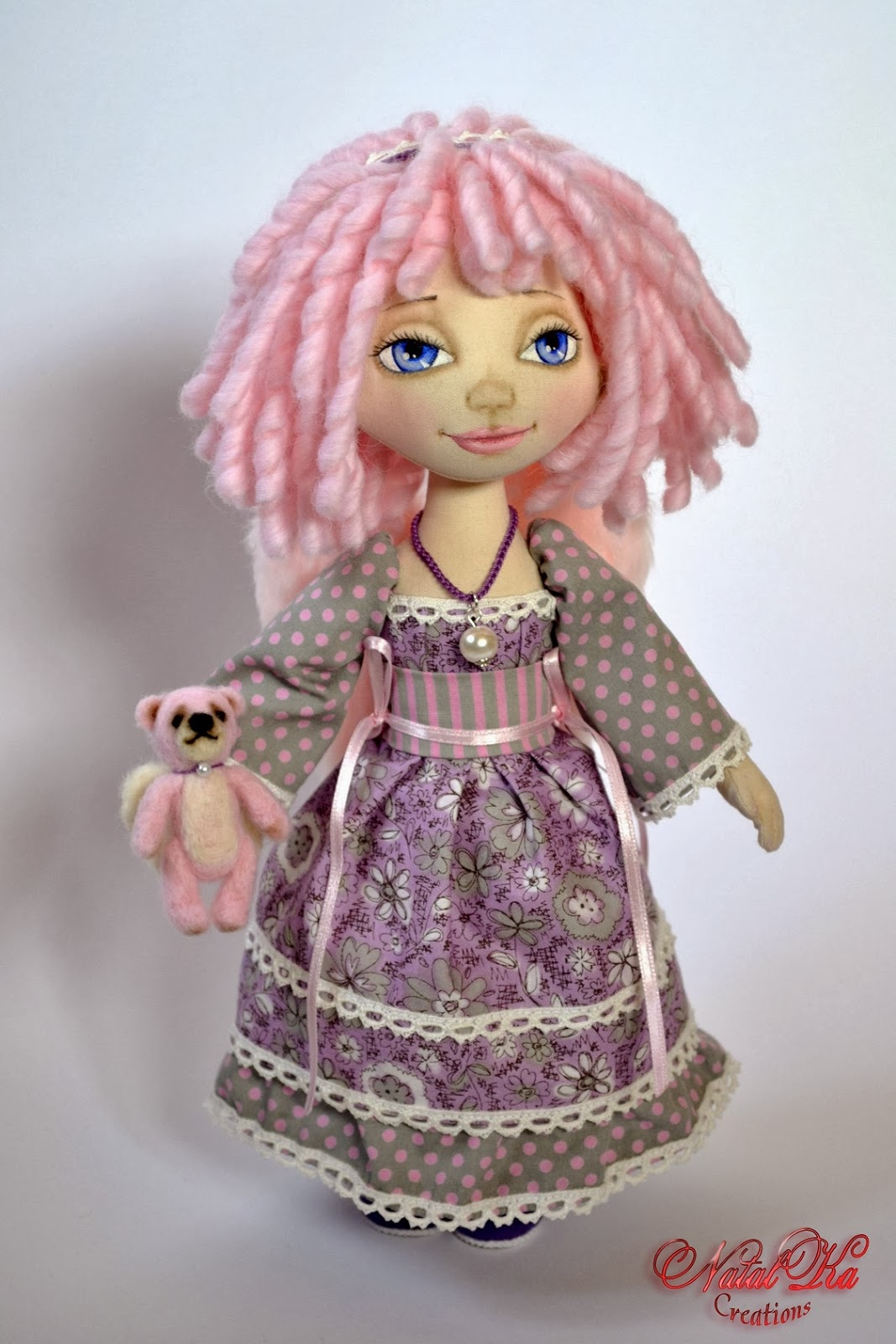 Авторская текстильная кукла от NatalKa Creations. Handgemachte Stoffpuppe von NatalKa Creations. Cloth art doll handmade by NatalKa Creations