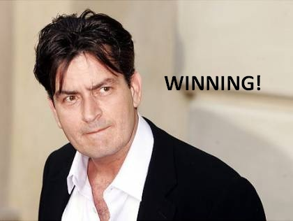 charlie sheen winning gif. hot winning charlie sheen gif.