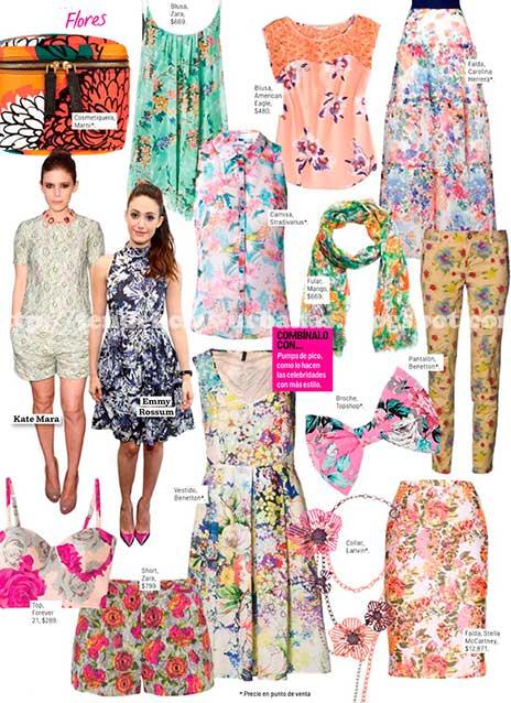 ropa con estampado floral moda verano