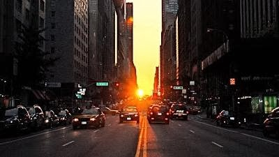 Manhattan henge in Newyork