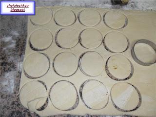 Chaussons couverts à la créme chcolaté