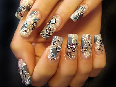 nail polish ideas 2012 retro snowflakes nail design - Nail Design Ideas 2012