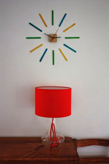 cool popsicle stick party crafts wall clock
