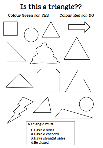 http://www.teacherspayteachers.com/Product/Is-this-a-triangle-worksheet-2D-shapes-1222995
