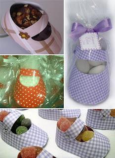 Lembrancinha de sapatinhos de bebês