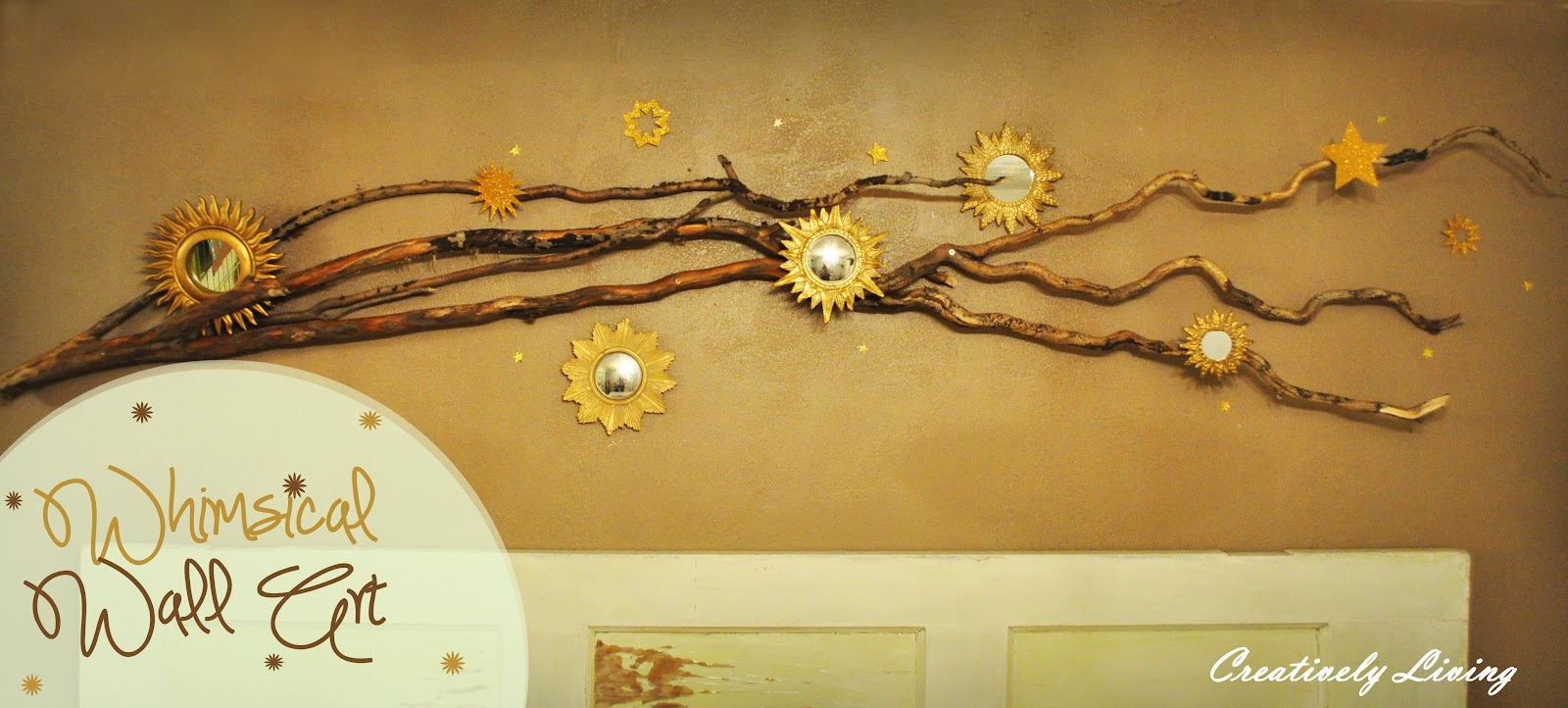 Whimsical Wall Art whimsical branch wall art - creatively living blog
