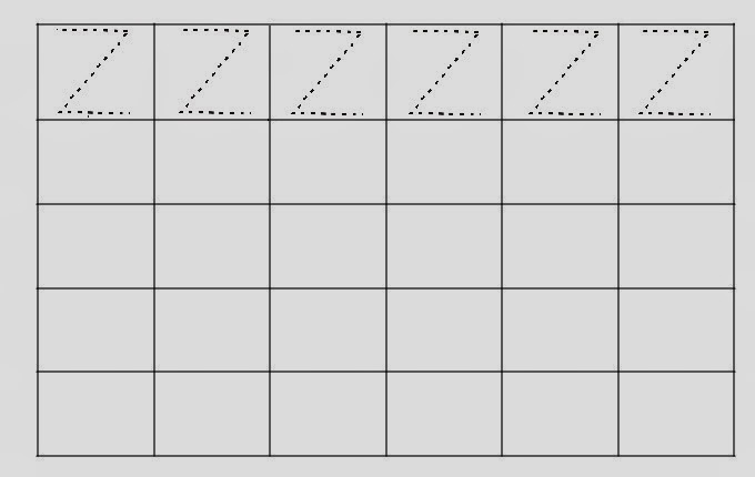 Alfabeto Pontilhado Letra Z