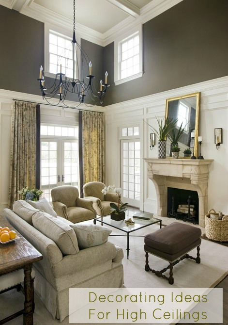 Cottage and vine decorating ideas for high ceilings for Tall ceiling decor