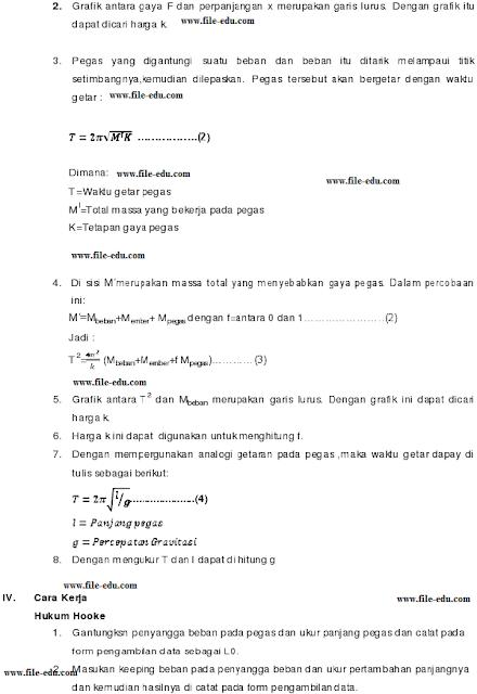 Praktikum Fisika Hukum Hoke