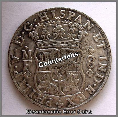 Spain 8-Reals Pillar Dollar 1741.