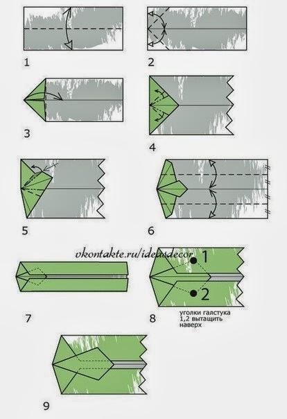 Как из 10 сделать рубашку с галстуком из