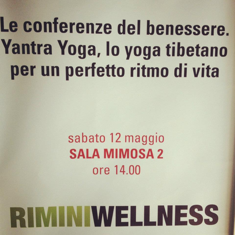 Rimini wellness 12 maggio - foto presentazione yantra yoga
