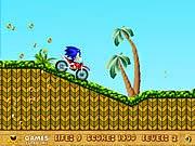 Sonic lái moto, game dua xe