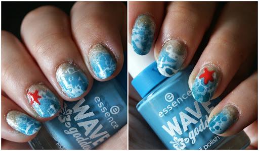 Water Marble Beach Nail Art