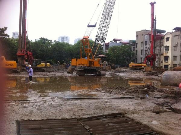 Hình ảnh thi công thực tế chung cư 75 Tam Trinh