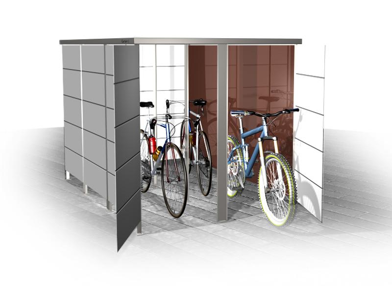 Fahradunterstand für vier Fahrräder