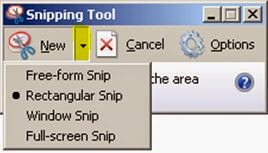 4 tool types in snipping tool