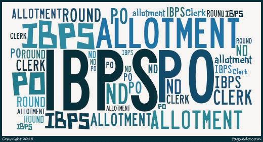 IBPS PO Allotment