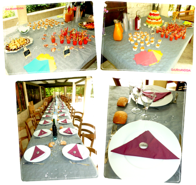 Image Buffet apéritif et repas d'anniversaire pour 50 personnes