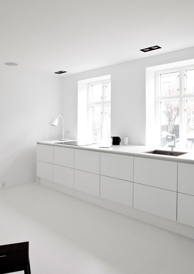 white kitchen by Norm Architects