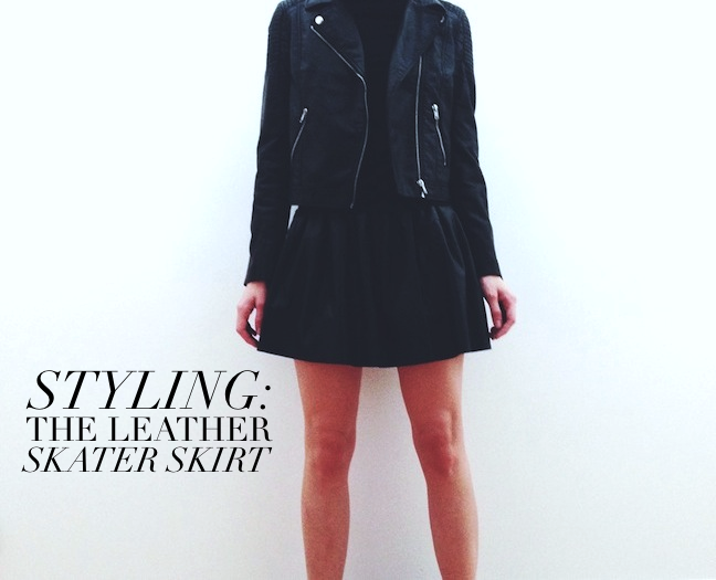 sorelle in style how to wear the leather skater skirt