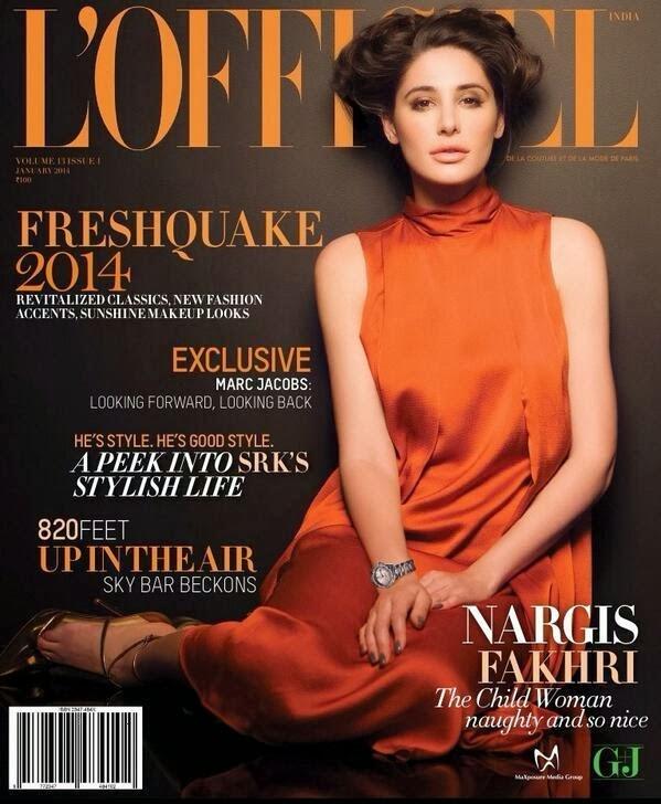 Magazine Photoshoot : Nargis Fakhri Photoshot For Semih Kanmaz L'officiel Magazine India January 2014 Issue