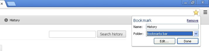 how to clear search bar history chrome
