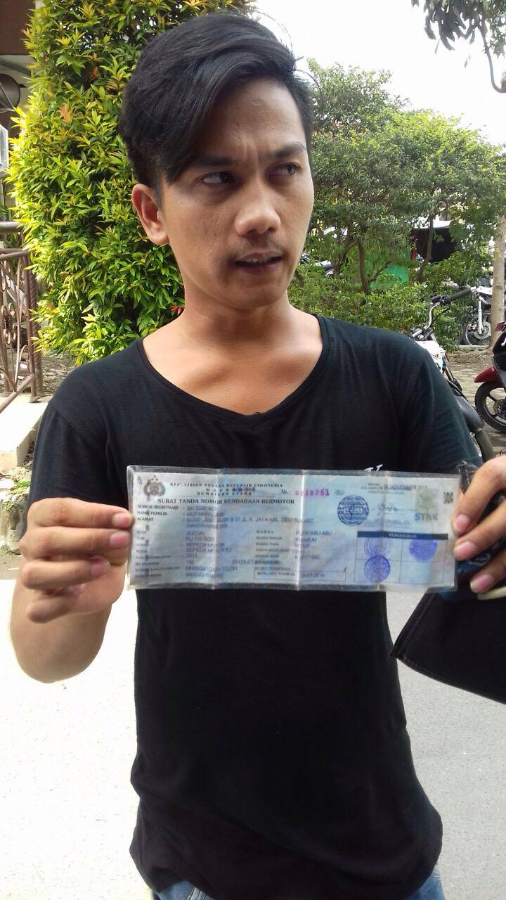 Teknisi Sepeda Motor Gelapkan Satria FU Pelaku Diciduk Polisi Dari Rumahnya