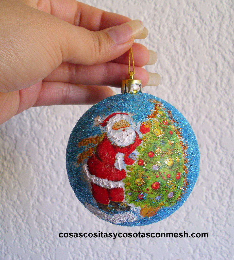 Manualidades esferas navide as cositasconmesh - Manualidades de bolas de navidad ...