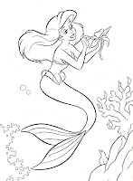 COLOURING BOOK SHEETTHE LITTLE MERMAID DISNEY COLORING PAGE LETS