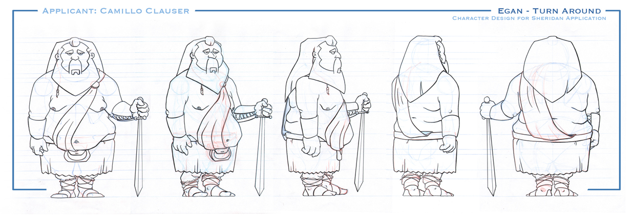Sheridan College Character Design : Camillo clauser sketch sheridan portfolio