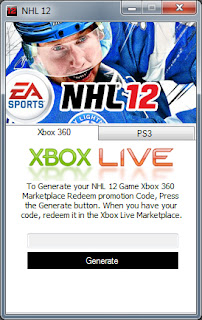 If you Using PS3, Select PS3 tab on the application.To Generate your NHL 12