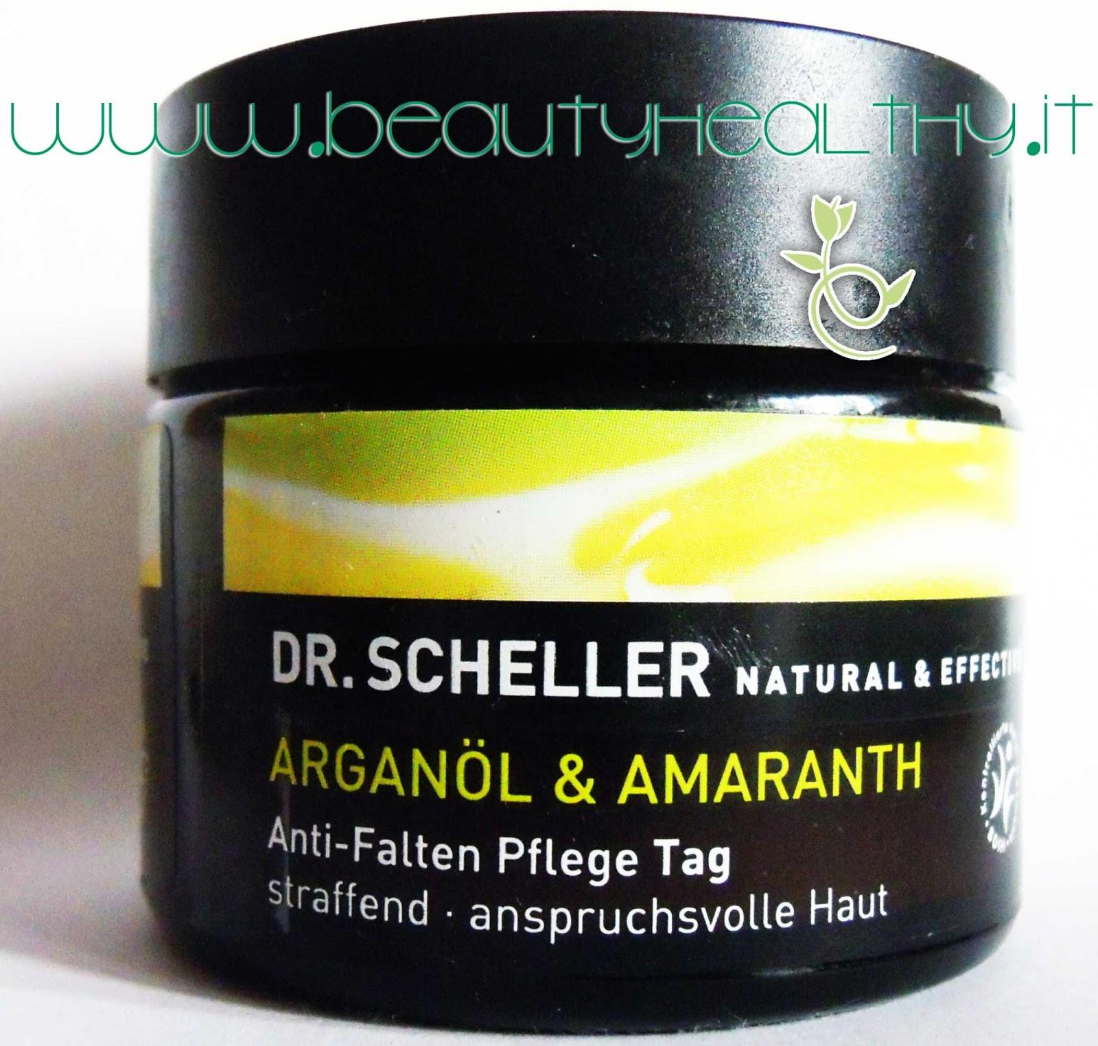 dr. scheller crema giorno antirughe argan amaranto
