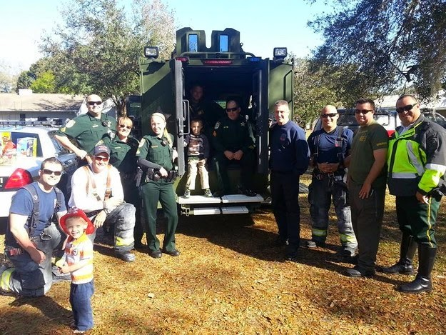 20+ Photos That Will Restore Your Faith In Humanity - No Classmates Showed Up For This Little Autistic Boy's Birthday. His Mom Asked For Help On Facebook And These Amazing Firefighters, Officers And Local Kids Came