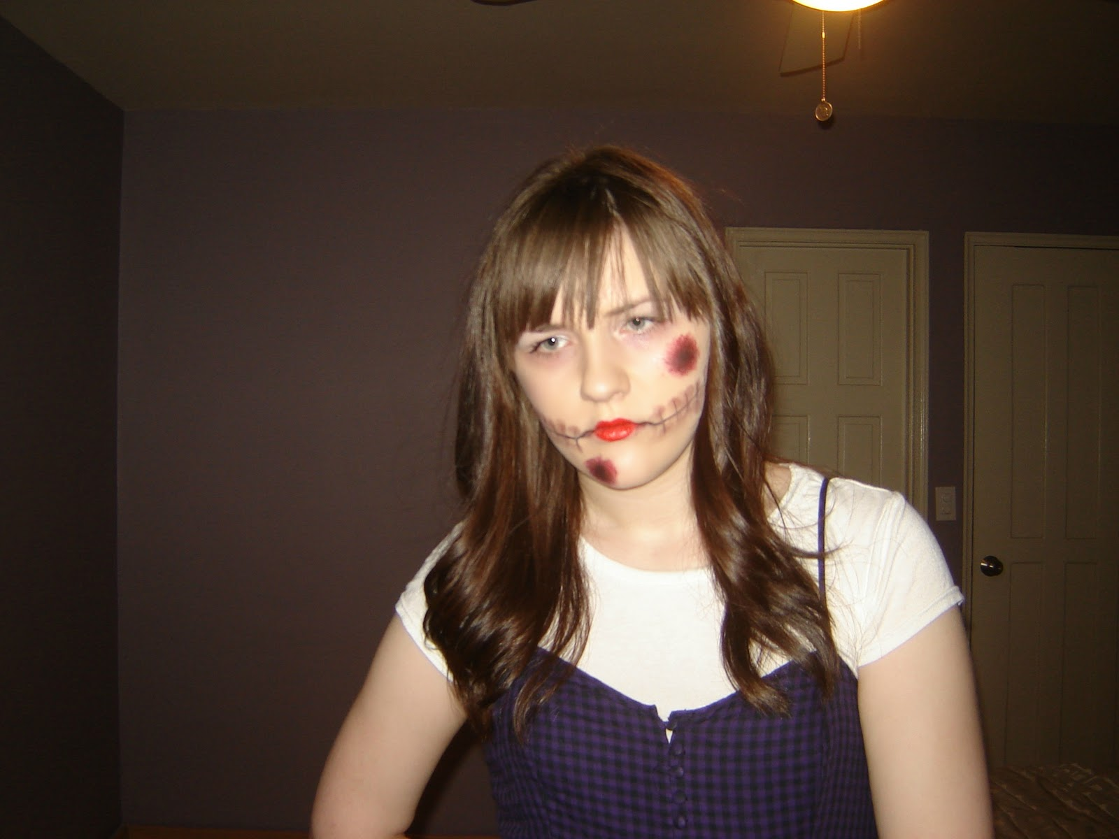 live beauty, xo: evil doll halloween makeup look