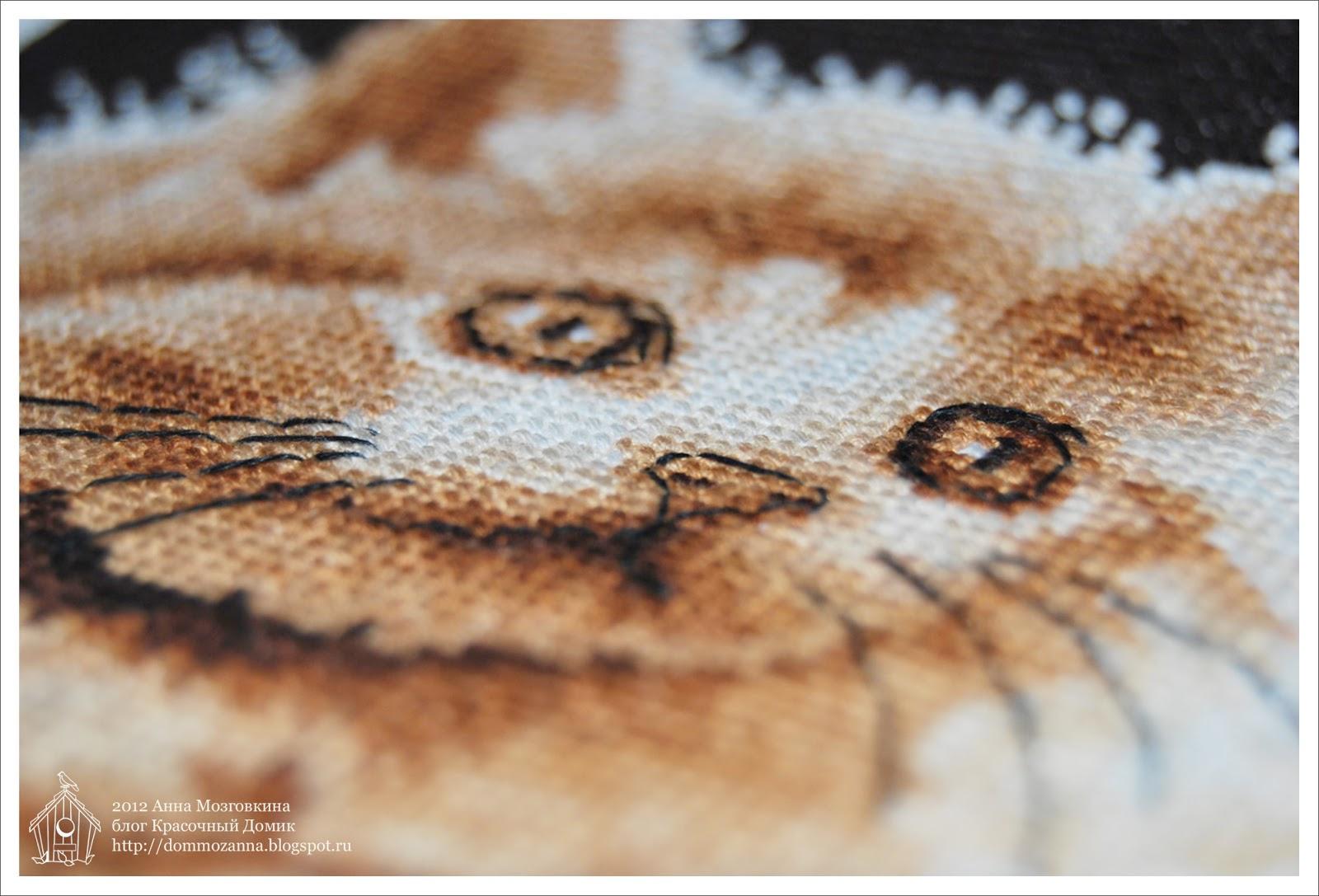 DMC Большеглазый котенок вышивка крестом