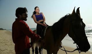 Nikeesha Patel stunning cute stills on Beach from movie karai oram
