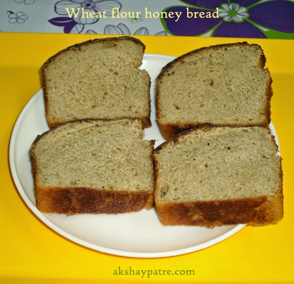 wheat flour honey bread slices
