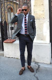 Stylizacja męska z dzianinowym krawatem