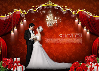 Lovely Red Wedding Template