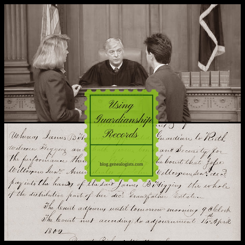 how-to, guardianship, records, genealogy, Sweeney, Wilcoxon