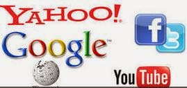 Facebook google yahoo wikipedia twitter youtube