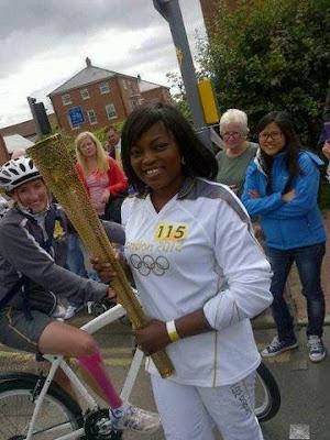 funke akindele olympic torch 2012