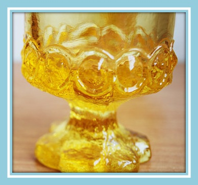 scalloped glass base