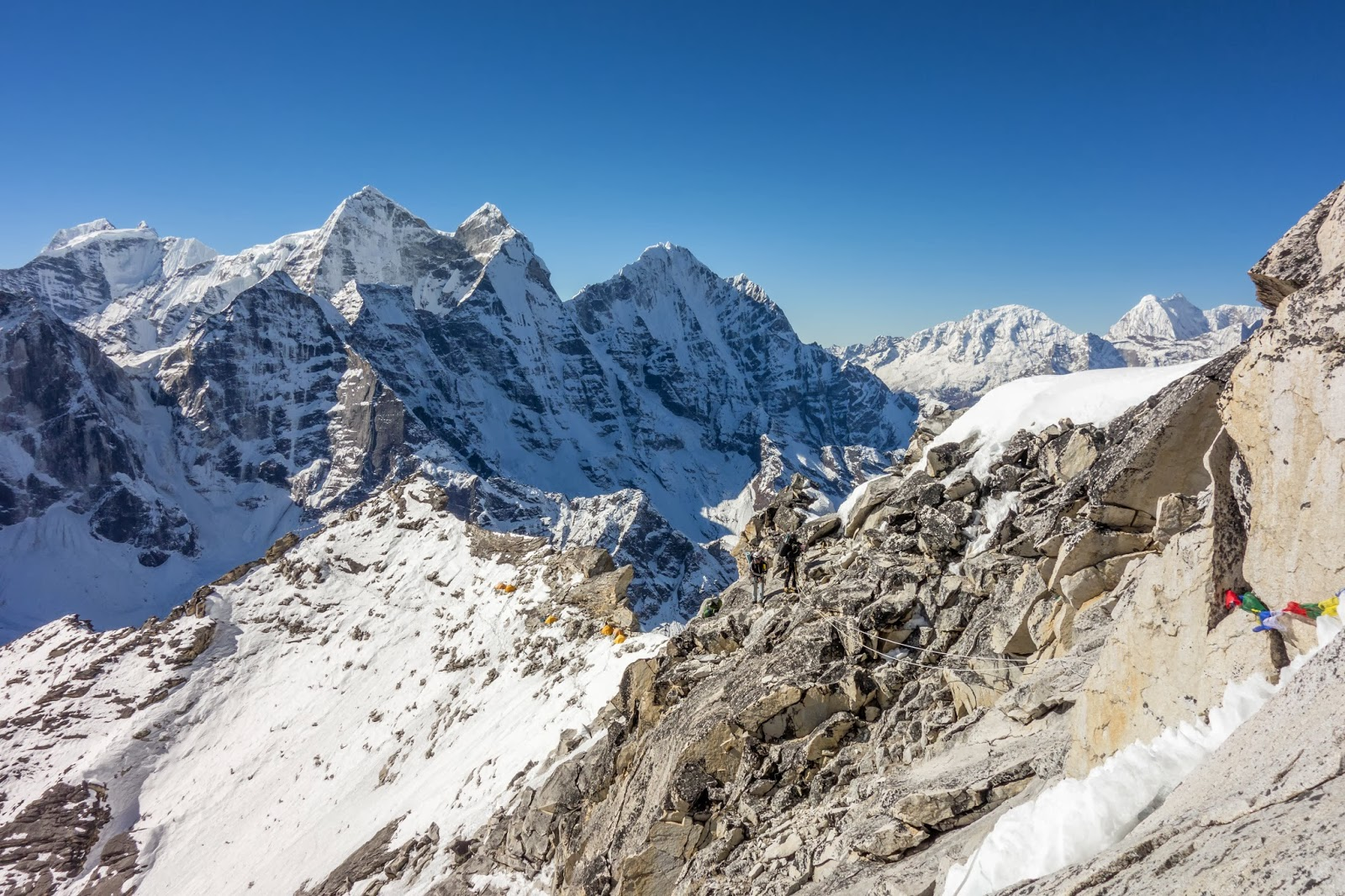 Route between Camp 1 and Camp 2 on Ama Dablam