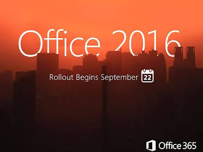 Microsoft Office 2016 for Windows date Rollout