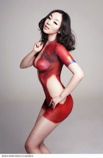 Soccer Body Paint World Cup 2013