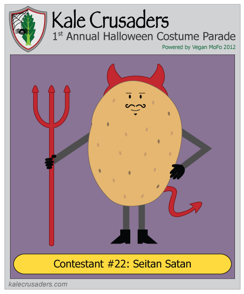 Contestant #22: Seitan Satan, Devil, Kale Crusaders 1st Annual Halloween Costume Parade, Powered by Vegan MoFo 2012