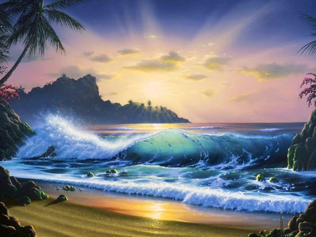 Arte pinturas leo pinturas de bonitos paisajes al hogue - Los cuadros mas bonitos ...